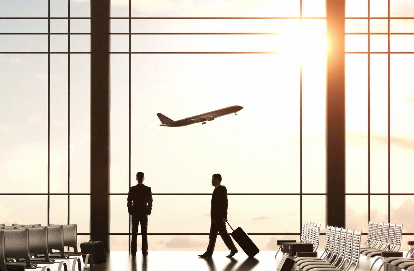 Intérieur d'un aéroport