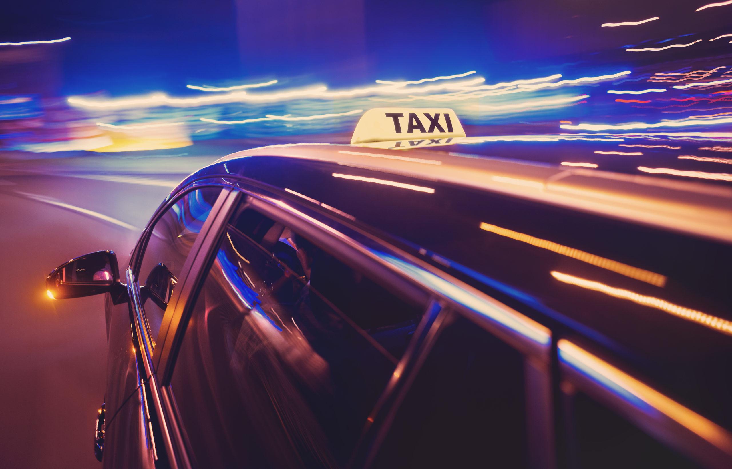 photo de voiture de taxi